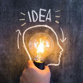Icona lampadina innovazione