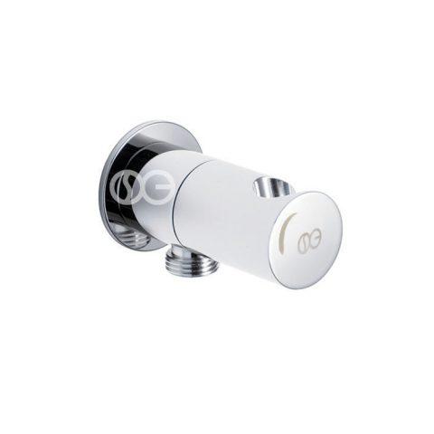 Presa acqua ROUND con porta doccetta e chiusura di sicurezza in ottone cromato