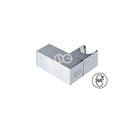 SG404S - Supporto doccia regolabile SQUARE in ottone cromato