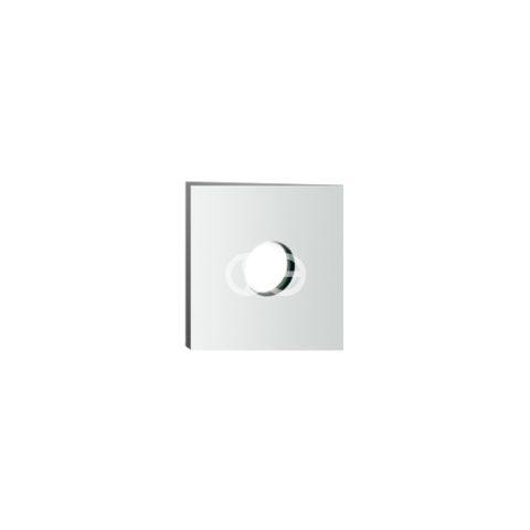 SG408S - Rosone per prese doccia quadro 50 mm in ottone cromato
