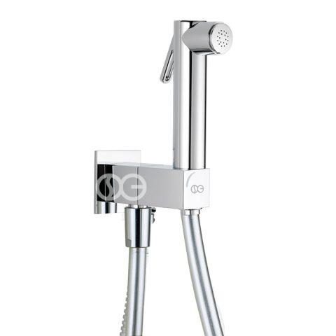 SG461 - Kit completo di doccia DOUBLE con speciale dispositivo anti-svitamento del vitone (antivandalo).