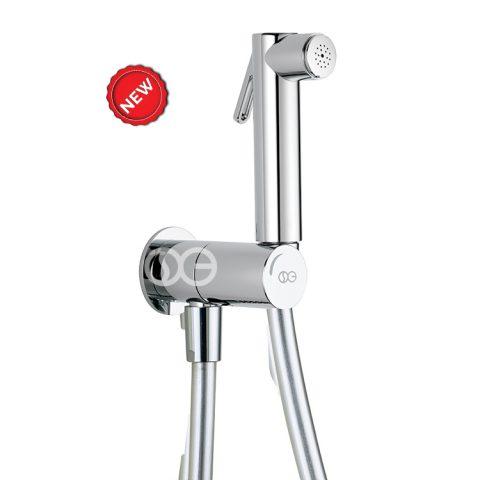 SG521 - Kit completo di doccia DUAL ROUND con speciale dispositivo anti-svitamento del vitone (antivandalo).