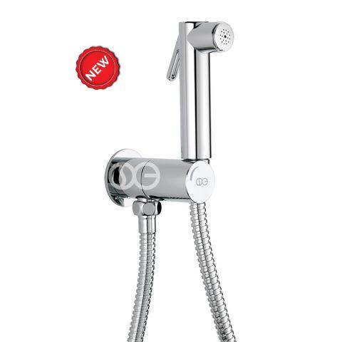 SG530 - Kit completo di doccia DUAL ROUND con speciale dispositivo anti-svitamento del vitone ceramico (antivandalo)